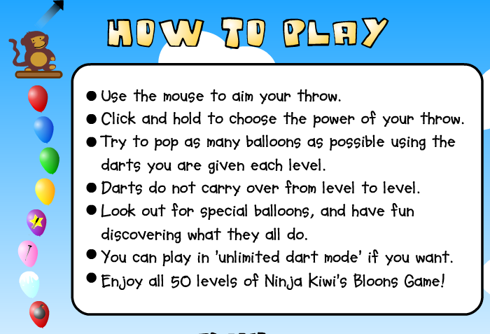 How to Play Bloons